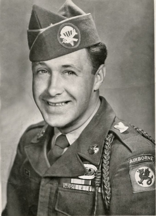 Dad in his Army Airborne uniform, pretty handsome guy.