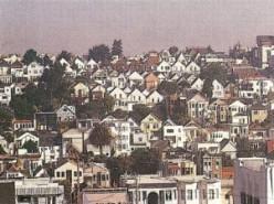 Houses on a hillside in San Francisco. Photo - Nemingha.