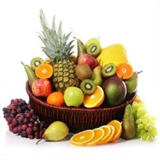 Basket of fresh fruit