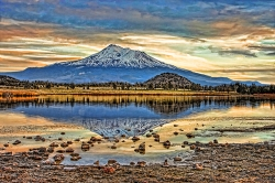 #207 - MOUNT SHASTA REFLECTED #22-T (1:1.5)