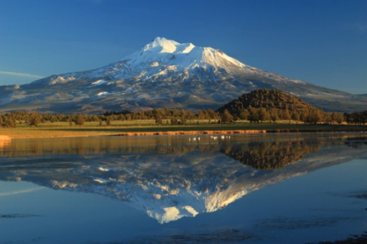 #76D - Mount Shasta Reflected #3