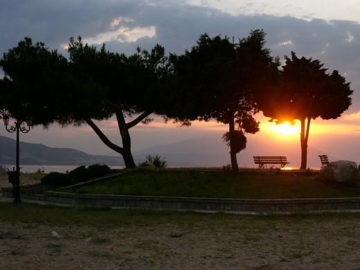 Beautiful sunrise in Asprovalta