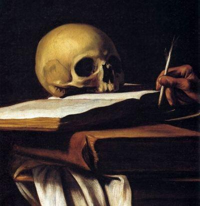 "Caravaggio ""St. Jerome"" c.1606 - photo Web Gallery of Art"