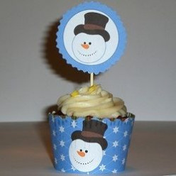 Snowman Cake and Cupcake Ideas