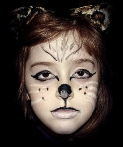 Black and White Cat Face Paint