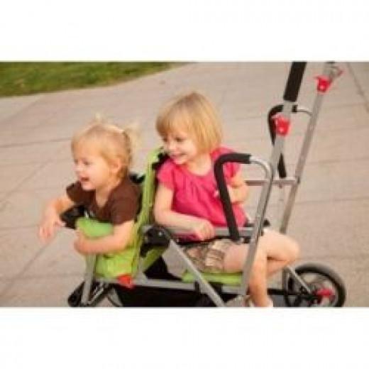Joovy Caboose Stand On Stroller adjustable back seat