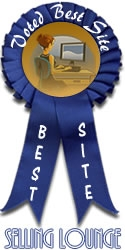 Best Site Winner badge from The Selling Lounge for May, 2010