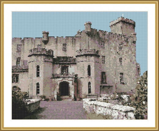Picture Credit  'Dunvegan Castle' - designed by the Author, faeriesong, for celtic-cross-stitch.com