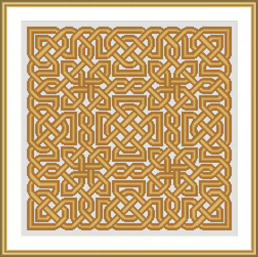 Picture Credit  'Hebridean Sunrise Knot' - designed by the author, faeriesong for celtic-cross-stitch.com