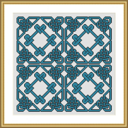 Picture Credit  'Summer Waves Knot' - designed by the author, faeriesong for celtic-cross-stitch.com