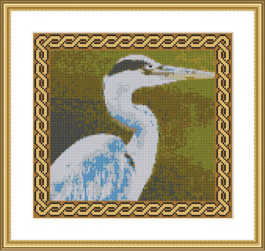 Picture Credit  'Heron'  - designed by the Author, faeriesong, for celtic-cross-stitch.com