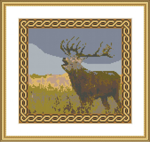 Picture Credit  'Stag'  - designed by the Author, faeriesong, for celtic-cross-stitch.com