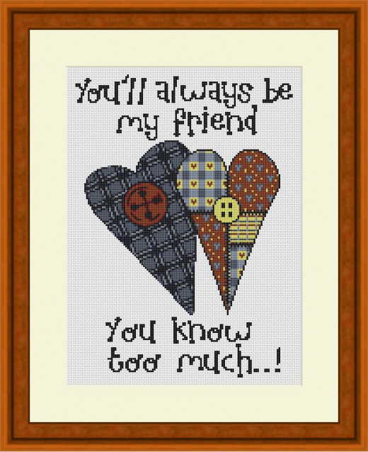 Picture Credit  'You'll Always Be My Friend'  - designed by the Author, faeriesong, for celtic-cross-stitch.com