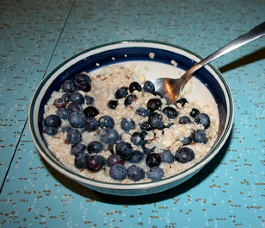 Steel Cut Oats and Blueberries