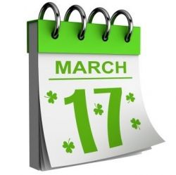 March 17th - Saint Patrick's Day