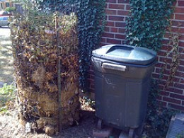 A Static Compost and a Maggot/Worm Compost (Photo by  aaronklinefelter at Flickr.com)