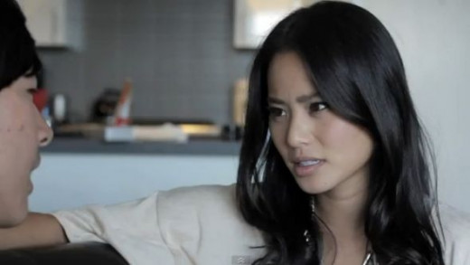 This is Jamie Chung.. I got this from the blog, www.jackfroot.com/2011/10/friend-zone-by-kevjumba-ft-jamie-chung/