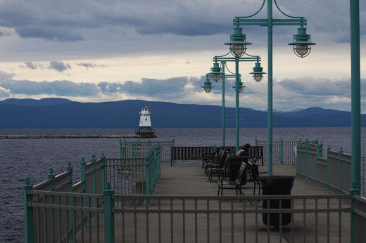 The Burlington waterfront