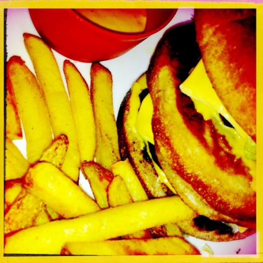 Hipstamatic image of my Big Mac Burger