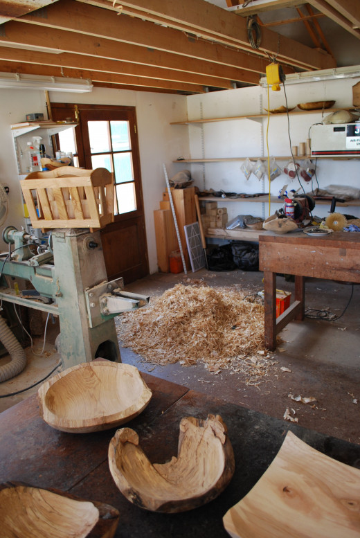 Woodworking workshop.
