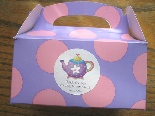 The gable boxes for my the Tea Party favors.