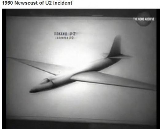 Copy of U-2 photo released by Soviet government following the shooting down of U-2 Spy plane piloted by CIA pilot Francis Gary Powers in May 1960  (public domain photo from Universal Newsreel / Archive.org)