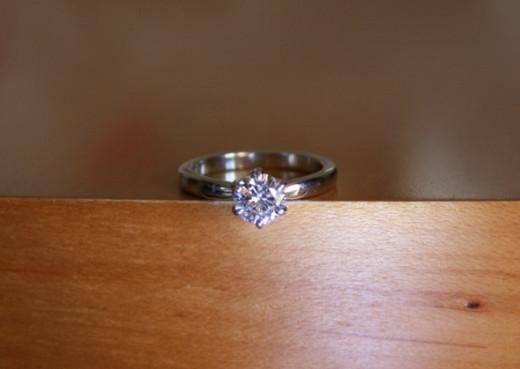 1 CT Moissanite Engagement Ring