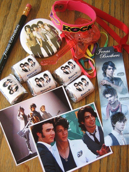 The party favors for my daughter's Jonas Brothers theme party.