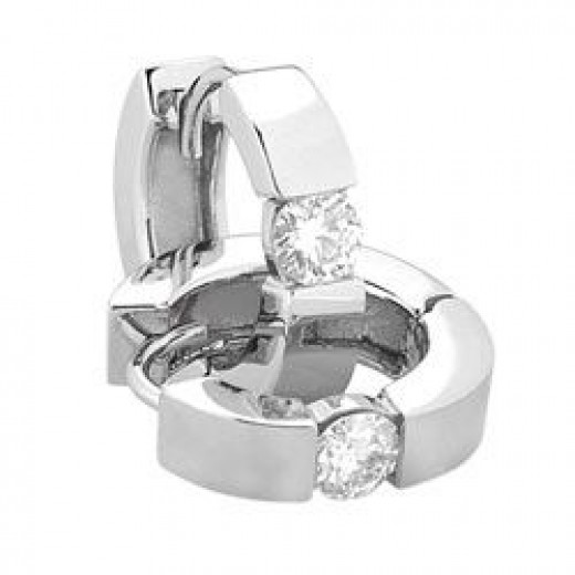 Style 9823M Round Moissanite Earrings