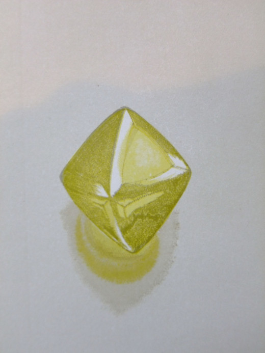 Yellow Diamond crystal Illustration