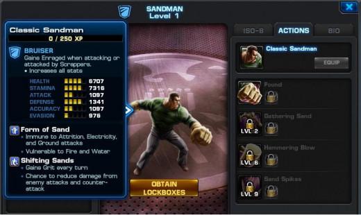 Sandman Hero Screen