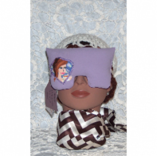 one of Diana's handsewn eye mask pillows for the ultimate in relaxation