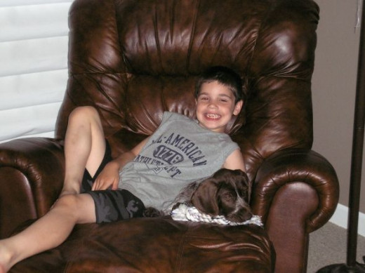 THAT'S ME IN MY FAVORITE CHAIR WITH MY FRIEND NICK