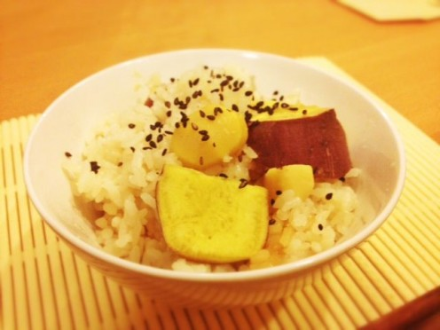 Chestnut and Sweet Potato Rice