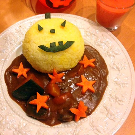Japanese Curry Rice for Halloween