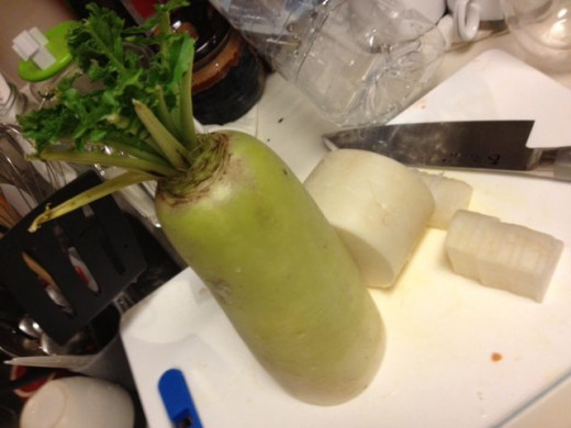 This is Japanese daikon radish.