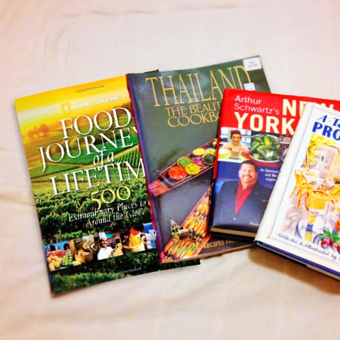 A small selection of my food-travel books.