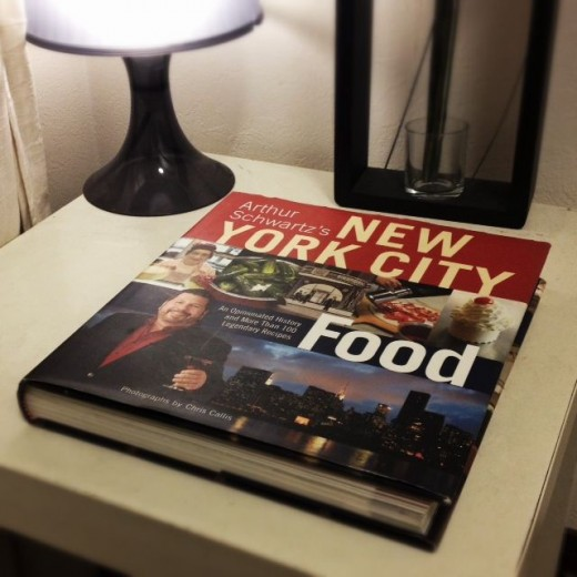 You can see my New York City Food book goes very well with my bedroom decor.