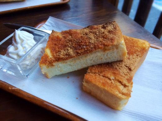 The cinnamon toast at a small cafe in my neighborhood was one of her favorite treats.