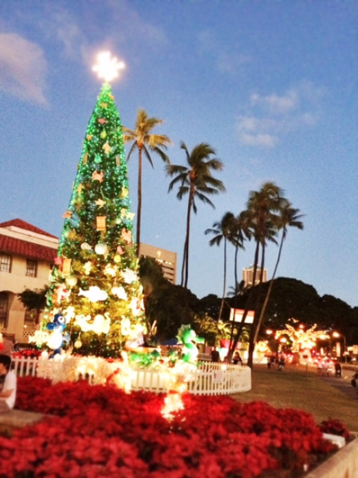 Christmas on the islands can be fesitve just like anywhere else.