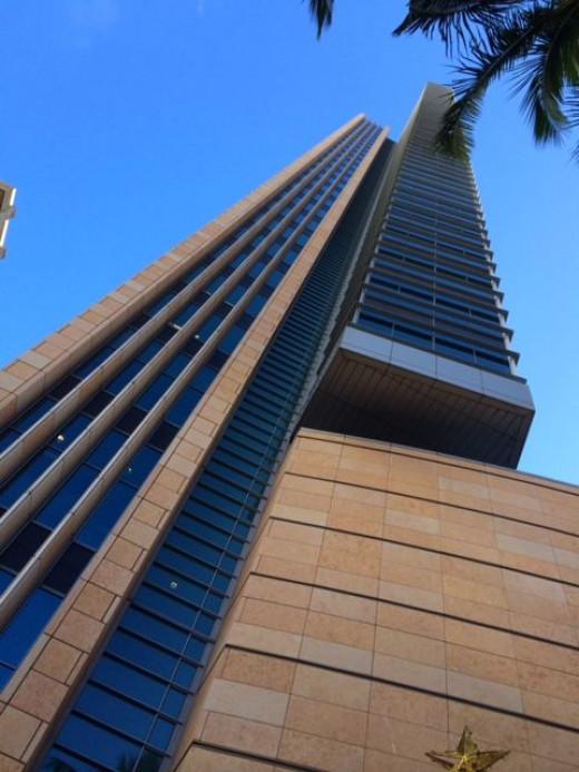 The towering skyscrapers of Honolulu.