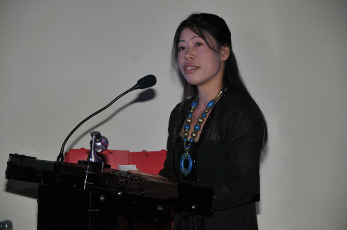 Mary Kom, speaking to India's British High Commission.