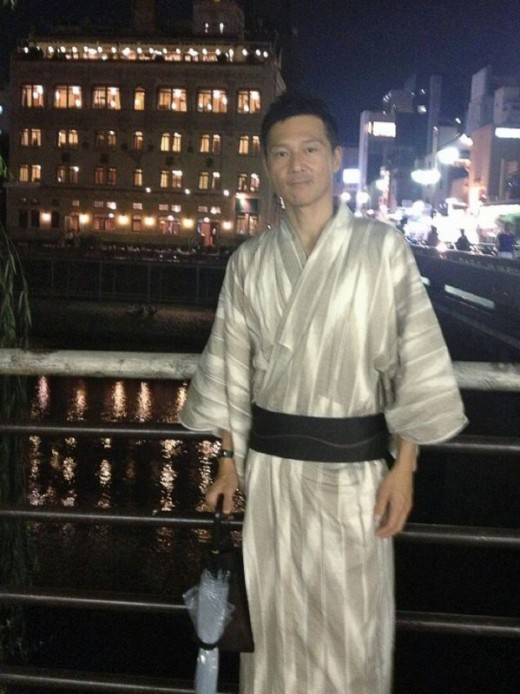 Last shot in my yukata before resting for the night.