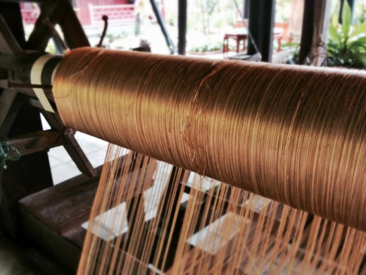 We learned a lot of interesting information on Thai silk.