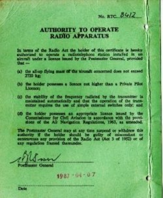 Radio license certificate