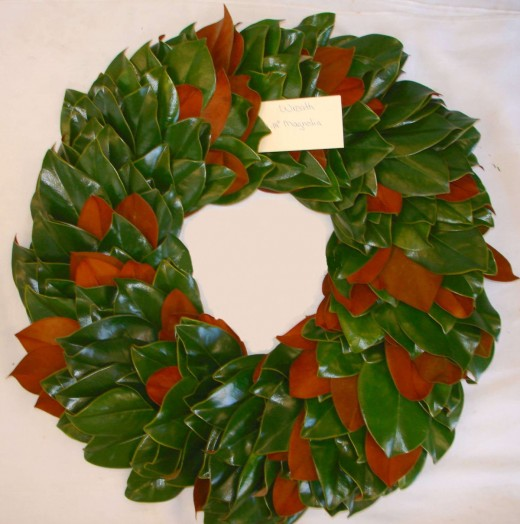 Plain Magnolia Wreath showing alternating colors