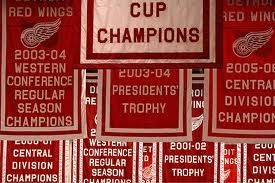 Detroit Red Wings Trophy Flags