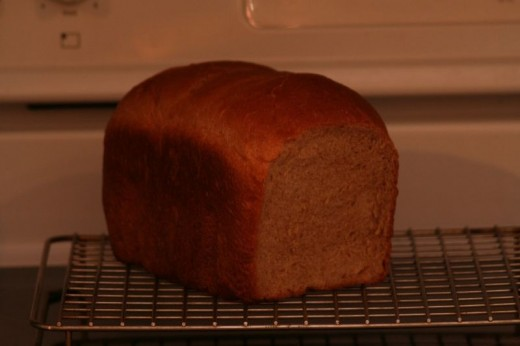 Whole Wheat Bread Showing The Finished Texture