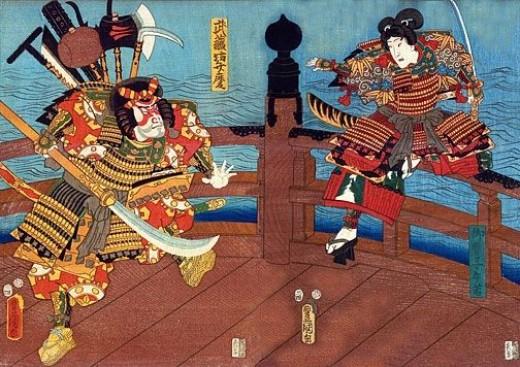 Samurai on Shijo Bridge