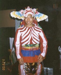 Ngawang Tsultrim backstage at the Lyric